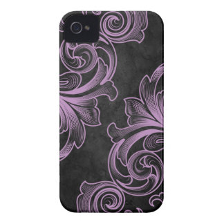Lavender Victorian Scroll iPhone 4/4S Case