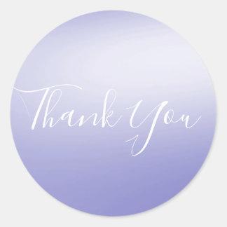Lavender Violet Purple Blue Shine Glam Party Favor Classic Round Sticker