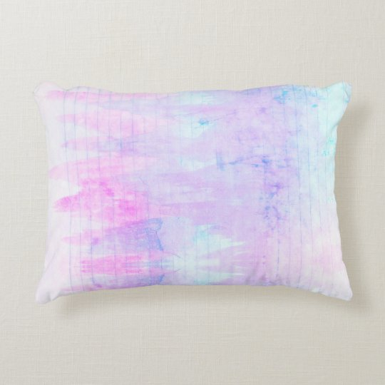 Lavender Watercolor Boho Lines Purple Decorative Pillow
