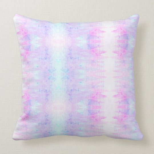Lavender Watercolor Boho Lines Purple Throw Pillow