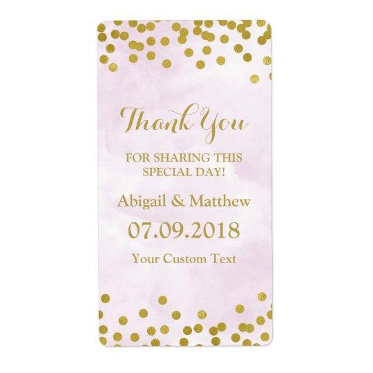 Lavender Watercolor Gold Confetti Wedding Labels