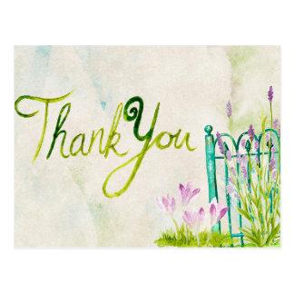 Lavender Watercolor Thank You Postcard