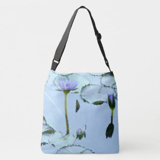 Lavender Waterlily Flowers Lilypads Pond Tote Bag