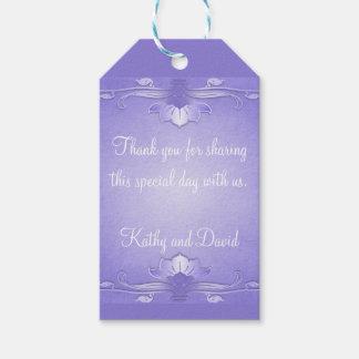 Lavender Wedding Favor Gift Tags