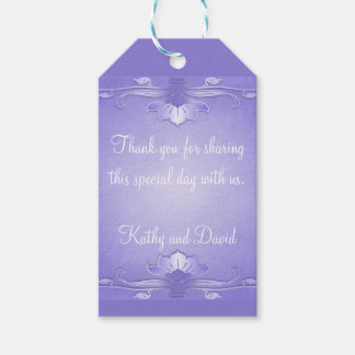 Lavender Wedding Favor Pack Of Gift Tags