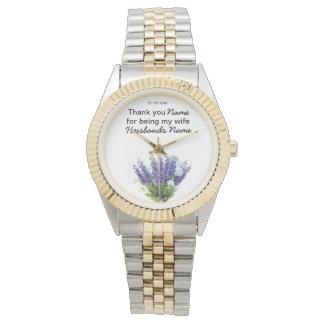 Lavender Wedding Souvenirs Keepsakes Giveaways Watch