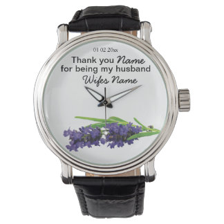 Lavender Wedding Souvenirs Keepsakes Giveaways Watch
