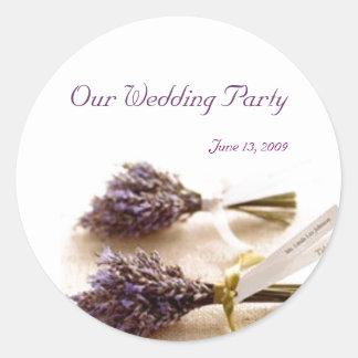 Lavender Wedding Stickers