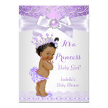 "Lavender White Lilac Princess Baby Shower Ethnic 5"" X 7"" Invitation Card"