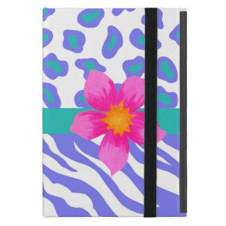 Lavender & White Zebra & Cheetah Pink Flower iPad Mini Case