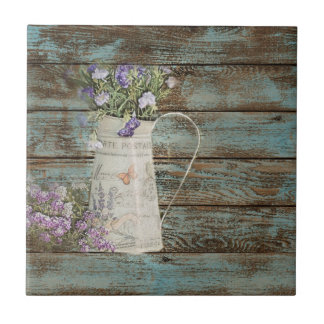 lavender wildflower blue barn wood french country ceramic tiles