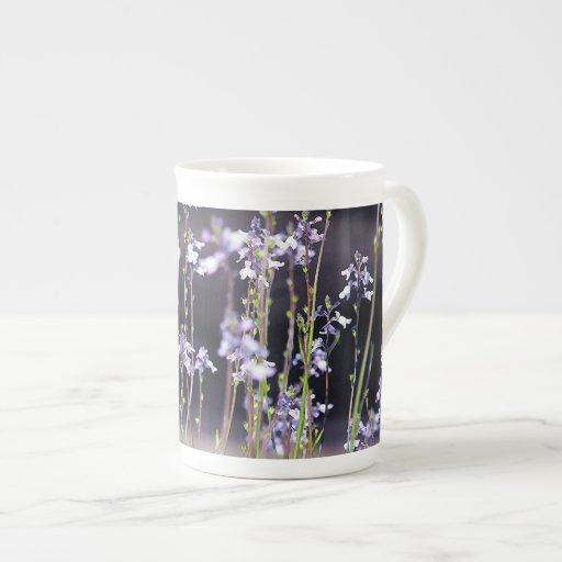 Lavender Wildflowers Bone China Mugs