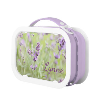 Lavender with Name Lunch Box
