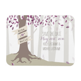 Lavender Woodland Save The Date Magnet