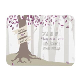 Lavender Woodland Save The Date Magnet