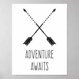 L'aventure attend inspiré poster