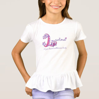 Lavina name and meaning baby girls clothing T-Shirt