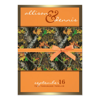 Lavish Camo Wedding Invitations
