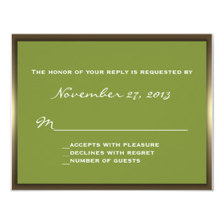 Lavish Camo Wedding RSVP Card