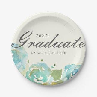 Lavish Florals Graduation 7 Inch Paper Plate