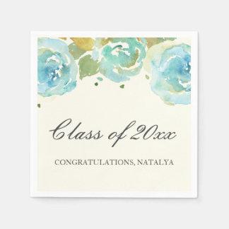 Lavish Florals Graduation Party Napkins Disposable Napkins