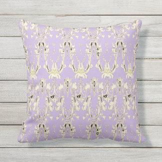 Lavish-Lavender-Gold-Black-Tribal-Elegance-M-L Outdoor Pillow