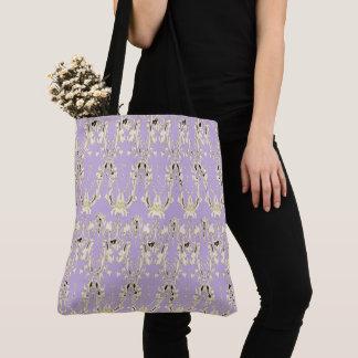 Lavish-Lavender-Gold-Tribal--Totes-Shoulder-Bags Tote Bag