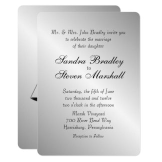 Law and Medicine Union Wedding Invitation