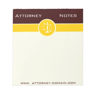 Law Attorney Justice Scales Notes Scratch Pad