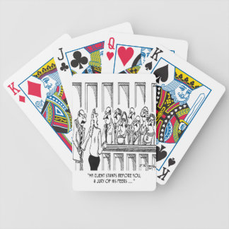 Law Cartoon 1913 Bicycle Playing Cards
