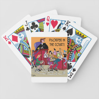 Law Cartoon 6553 Bicycle Playing Cards
