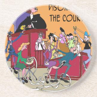 Law Cartoon 6553 Coaster
