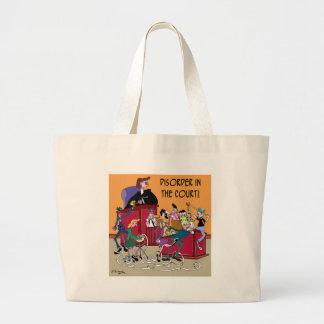 Law Cartoon 6553 Large Tote Bag