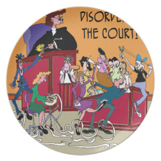 Law Cartoon 6553 Plate