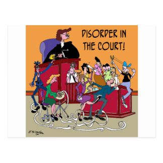 Law Cartoon 6553 Postcard