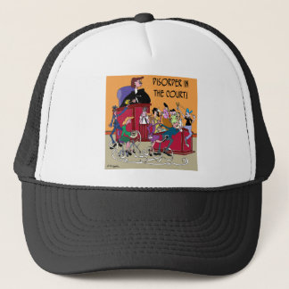 Law Cartoon 6553 Trucker Hat