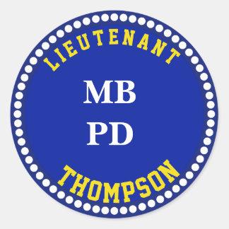 Law Enforcement Department Monogram Stickers