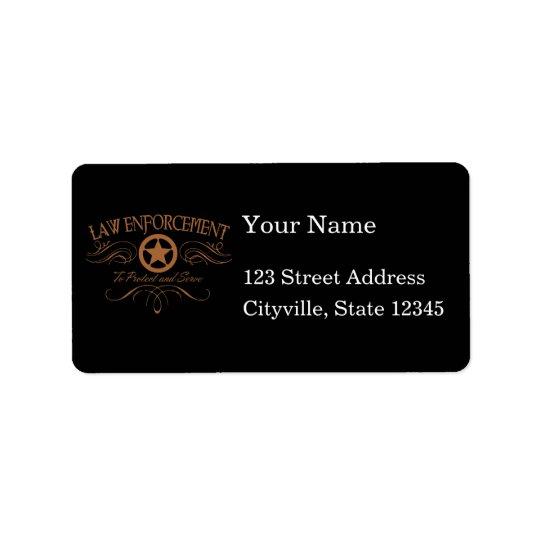 Law Enforcement Western Label