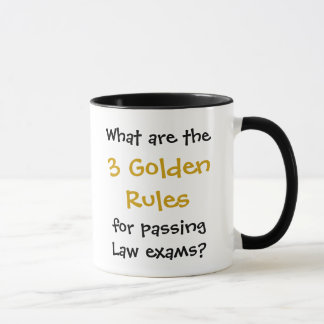 Law Exam Pass - Golden Rules Joke Quote Mug