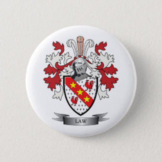 Law Family Crest Coat of Arms 2 Inch Round Button