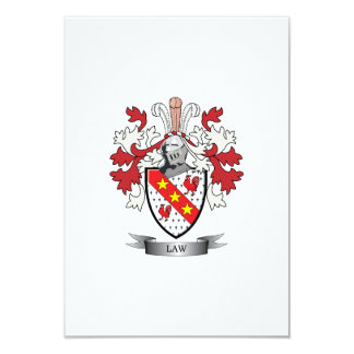Law Family Crest Coat of Arms Card