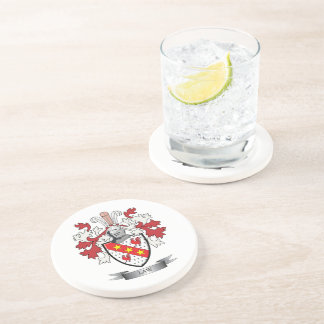 Law Family Crest Coat of Arms Coaster