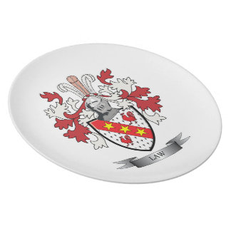 Law Family Crest Coat of Arms Plate