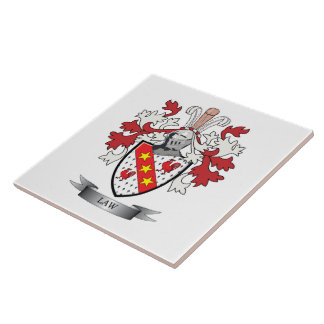Law Family Crest Coat of Arms Tiles