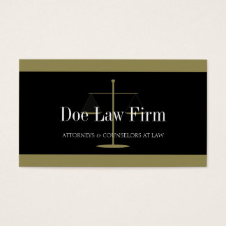 Law Firm Gold/Black Banner Business Card