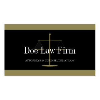 Law Firm Gold Black Banner Business Card Templates