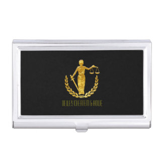 Law Firm Gold Peersonalize Case For Business Cards