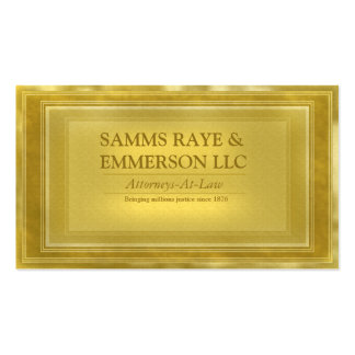 Law Firm Offices Attorney at Law Business Card