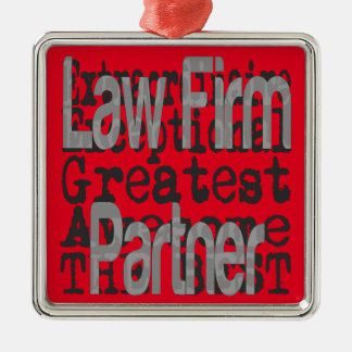 Law Firm Partner Extraordinaire Silver-Colored Square Ornament