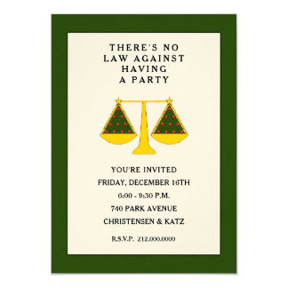Law firm party invitations